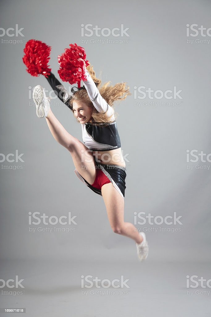 cheerleader jumping royalty-free stock photo