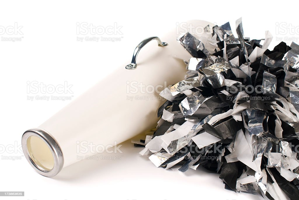 cheerleader megaphone royalty-free stock photo