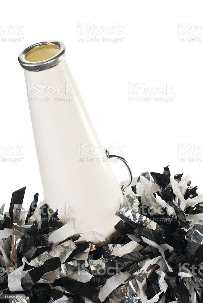 cheerleader megaphone royalty-free stock photo
