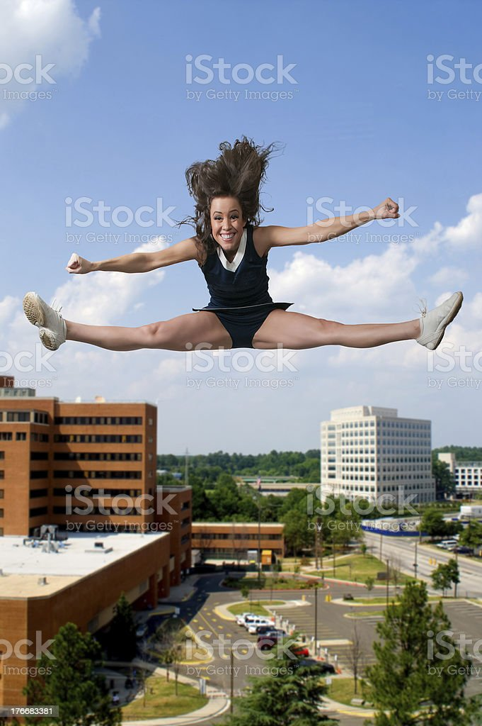 Cheerleader royalty-free stock photo