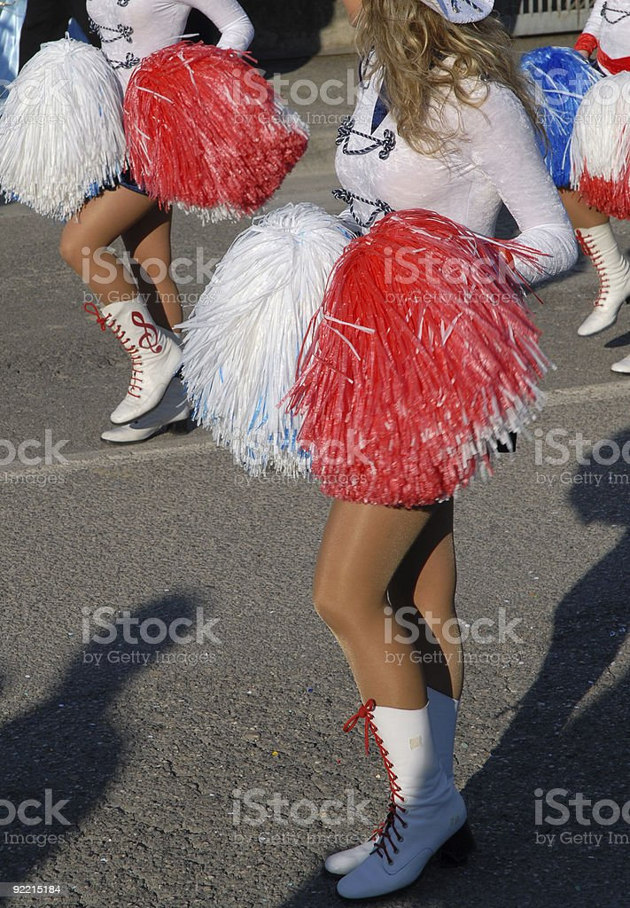 Cheerleaders parade royalty-free stock photo