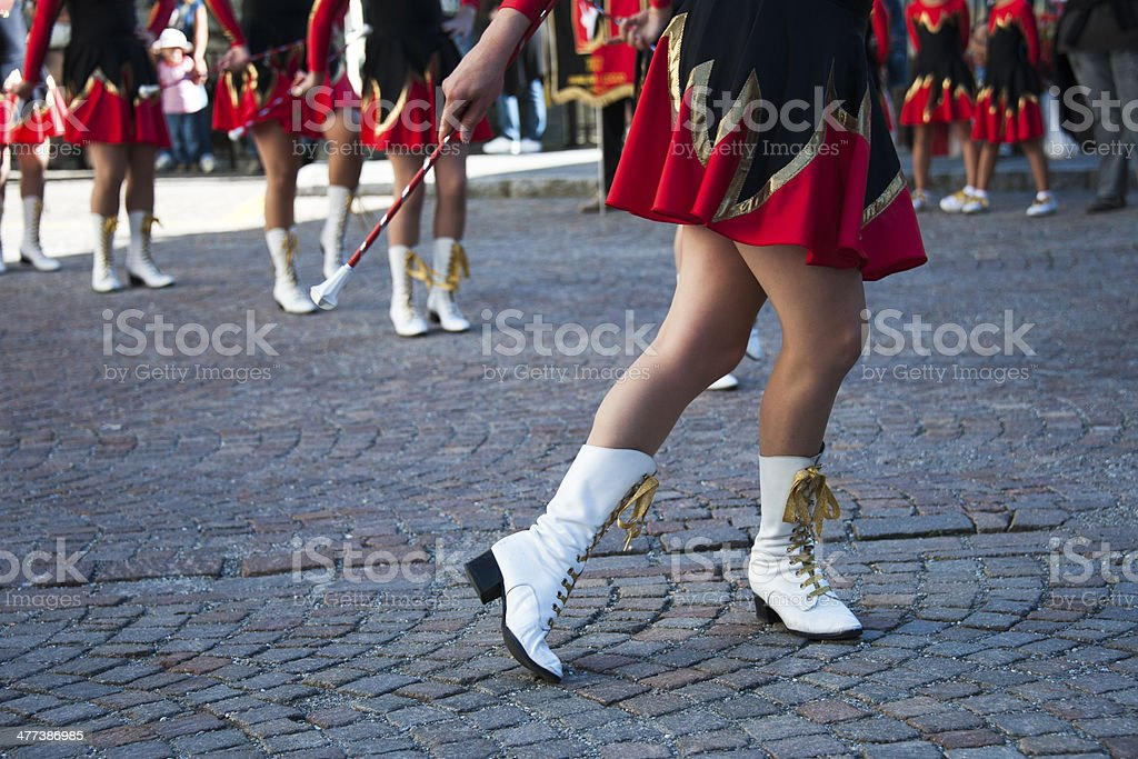 majorettes stock photo