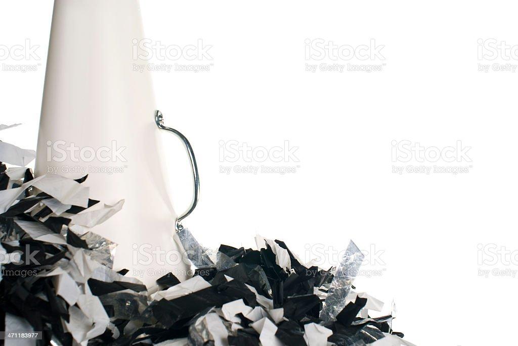 cheerleading megaphone royalty-free stock photo