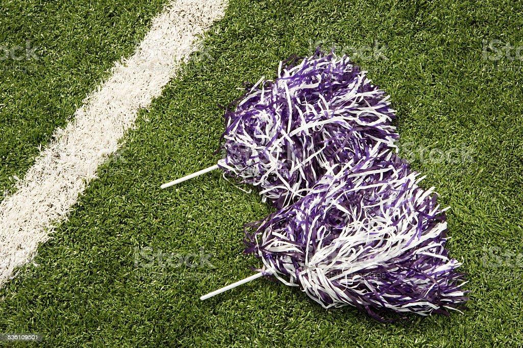 Cheerleading pom-poms stock photo