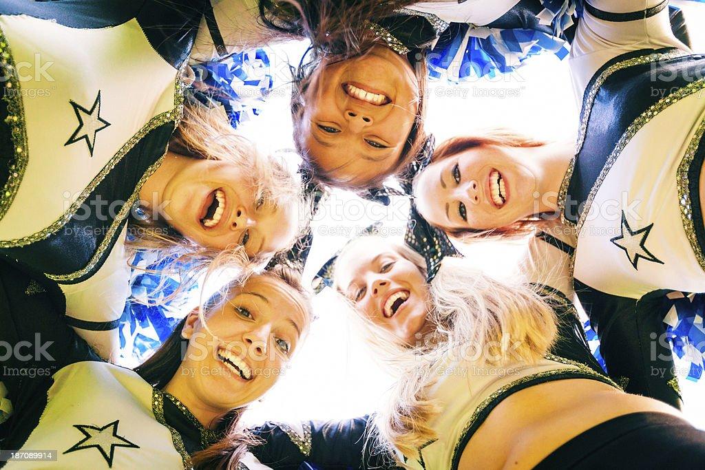cheerleading team royalty-free stock photo