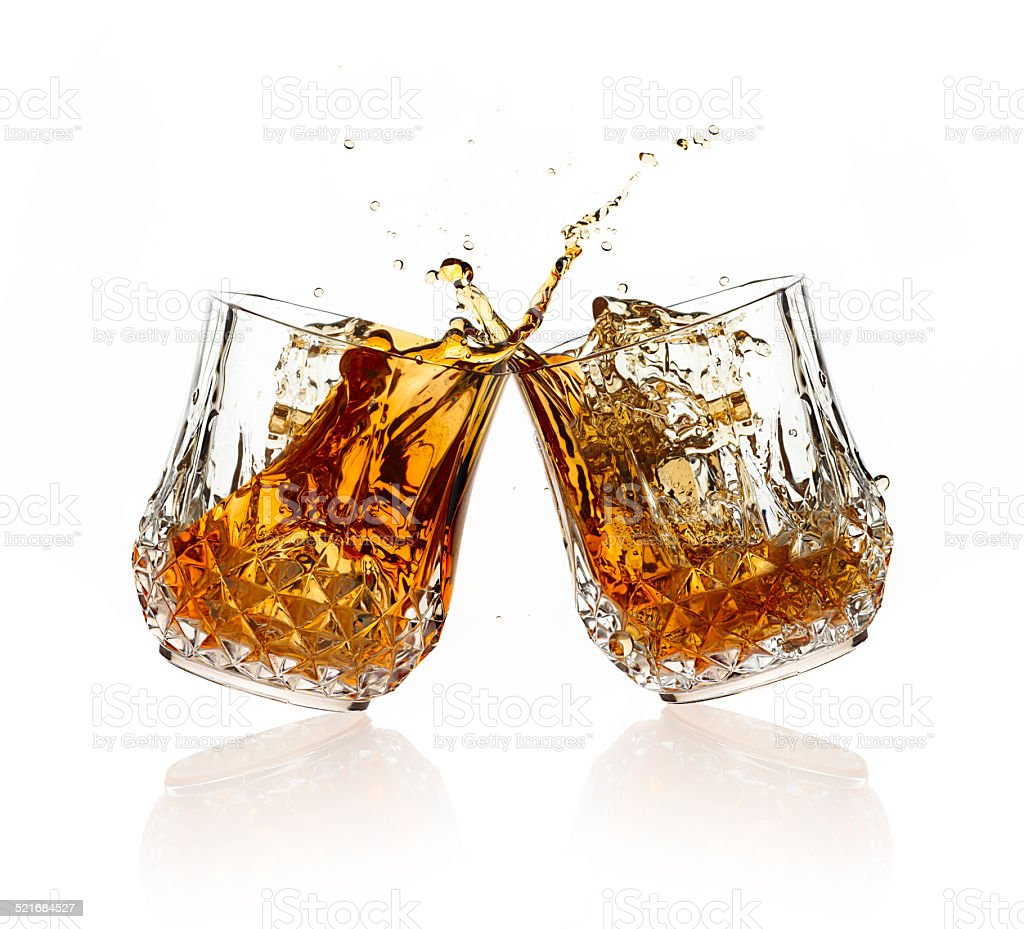 Cheers. A Toast with Whiskey. stock photo