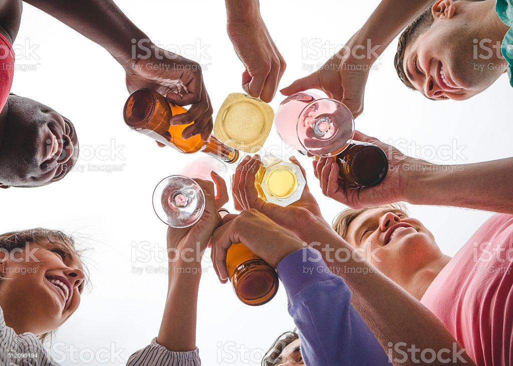 Cheers everyone! stock photo