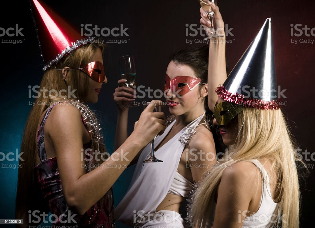 cheers for happy new year! royalty-free stock photo