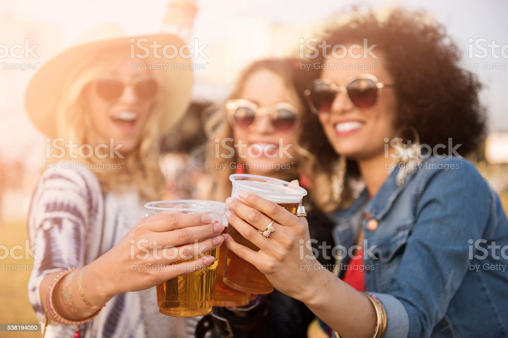 Cheers for our great party stock photo