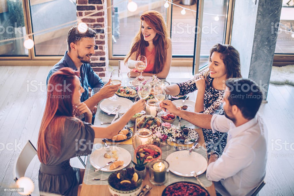 Cheers for the friendship stock photo