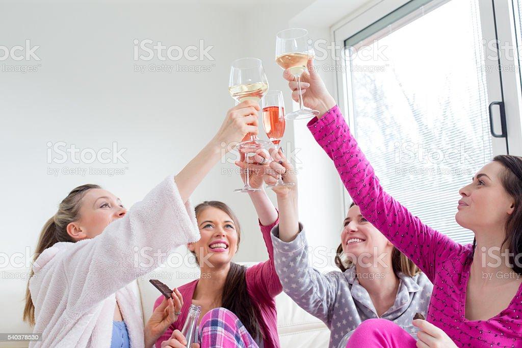 Cheers Girls! stock photo