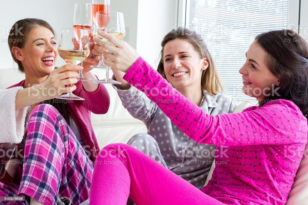 Cheers Ladies! stock photo