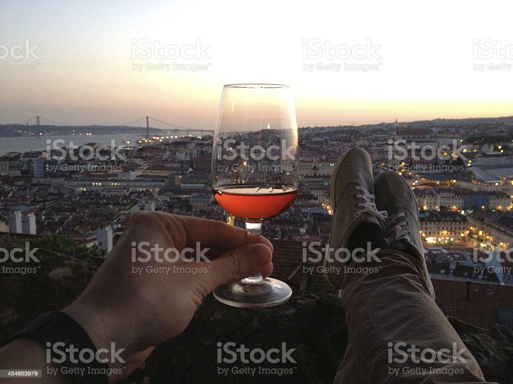Cheers, Lisbon! stock photo