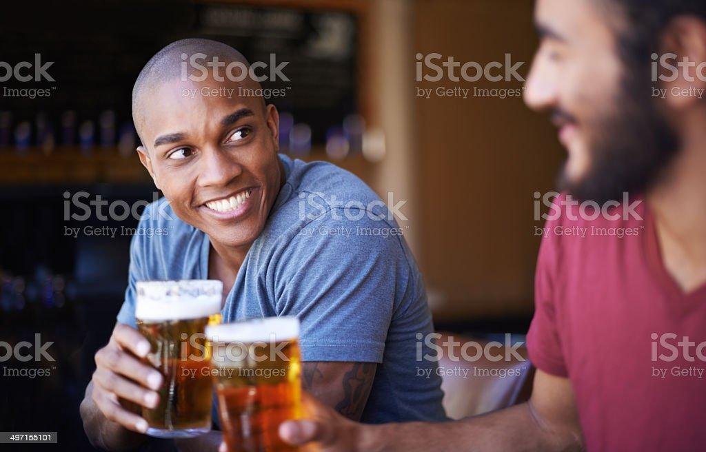 Cheers mate! stock photo