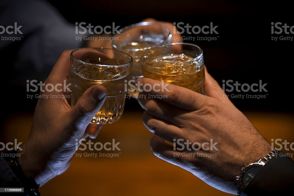 Cheers! royalty-free stock photo