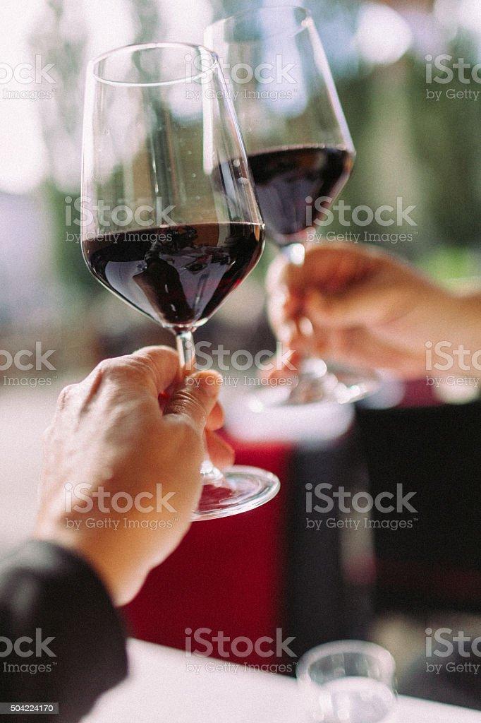 Cheers stock photo