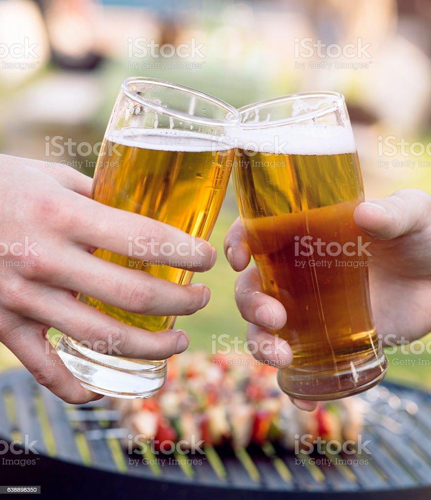 BBQ cheers stock photo