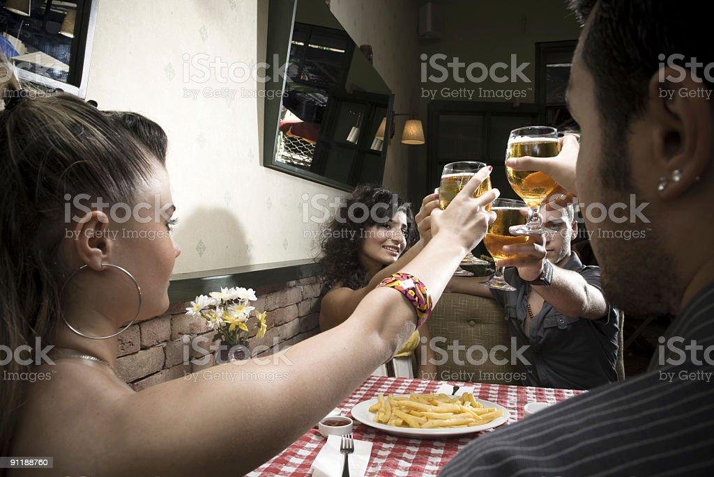 cheers! royalty-free stock photo
