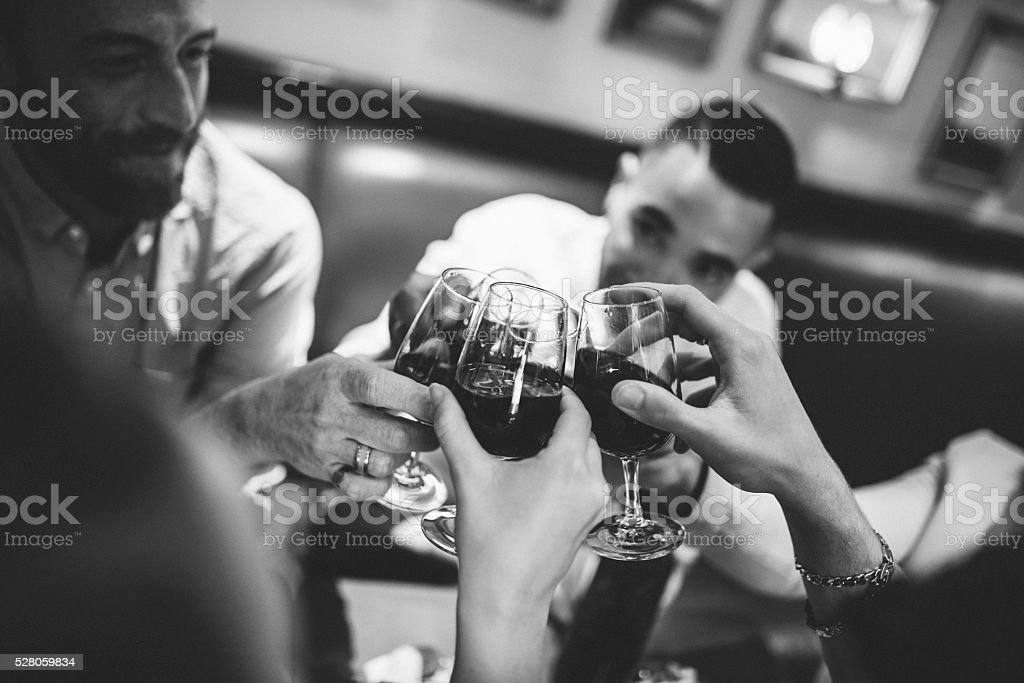 Cheers to awesome parties! stock photo