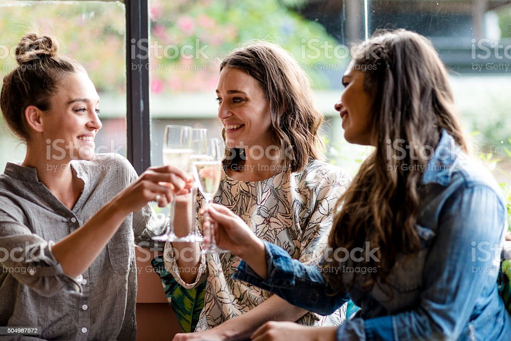 Cheers to good party stock photo