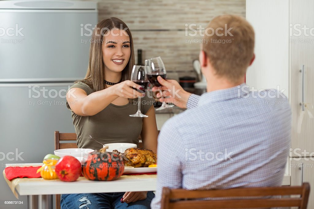 Cheers to Our Love stock photo
