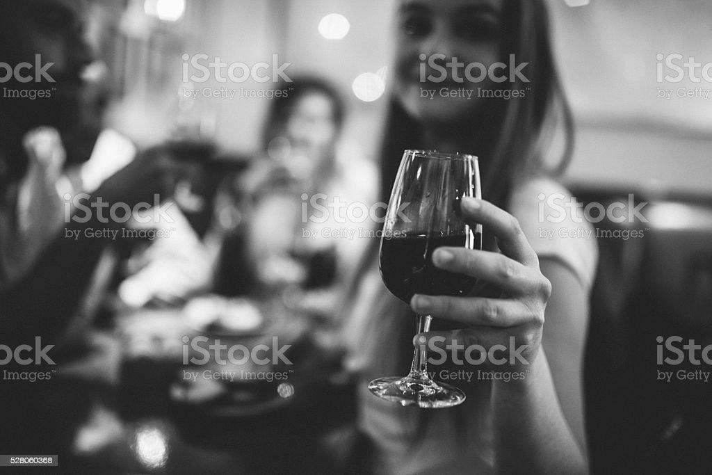 Cheers to photographer! stock photo