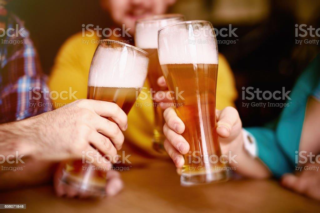 Cheers to St Patrick! stock photo