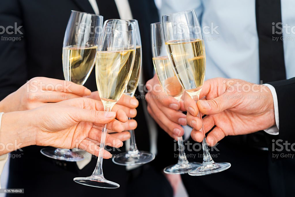 Cheers to success. stock photo