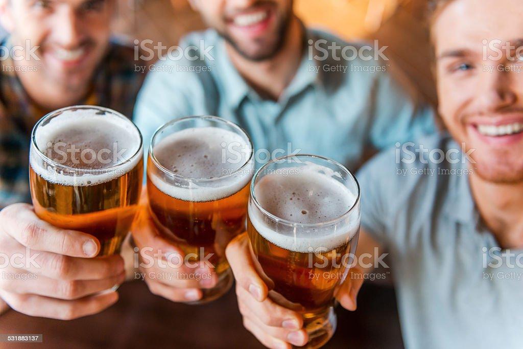Cheers to success! stock photo