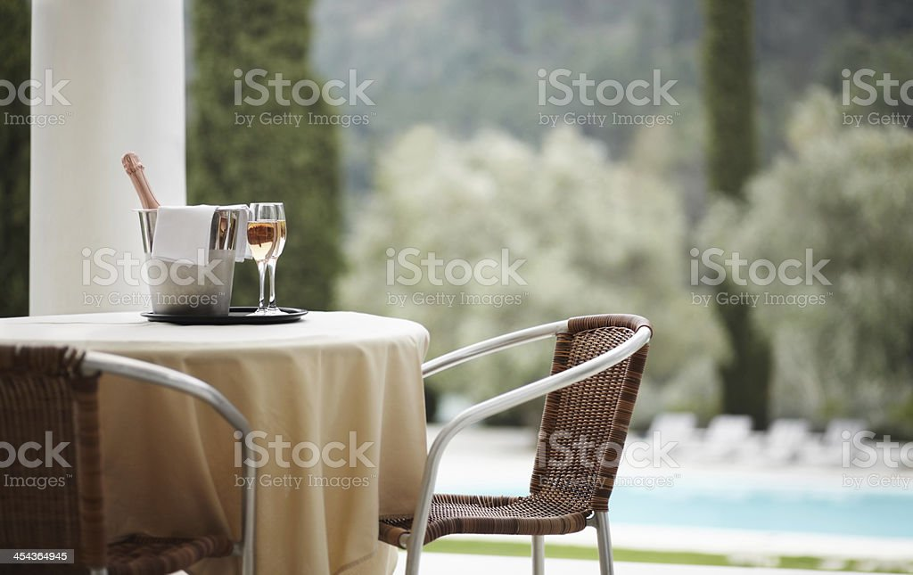 Cheers to vacations! royalty-free stock photo