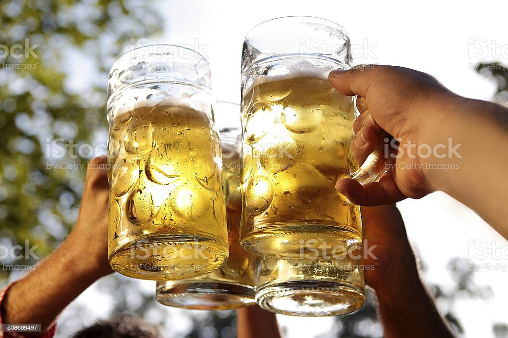 Cheers together stock photo