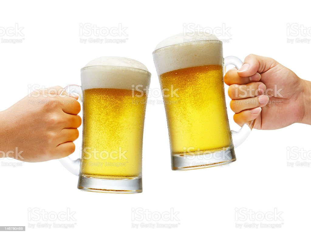Cheers With Beers XXXL royalty-free stock photo