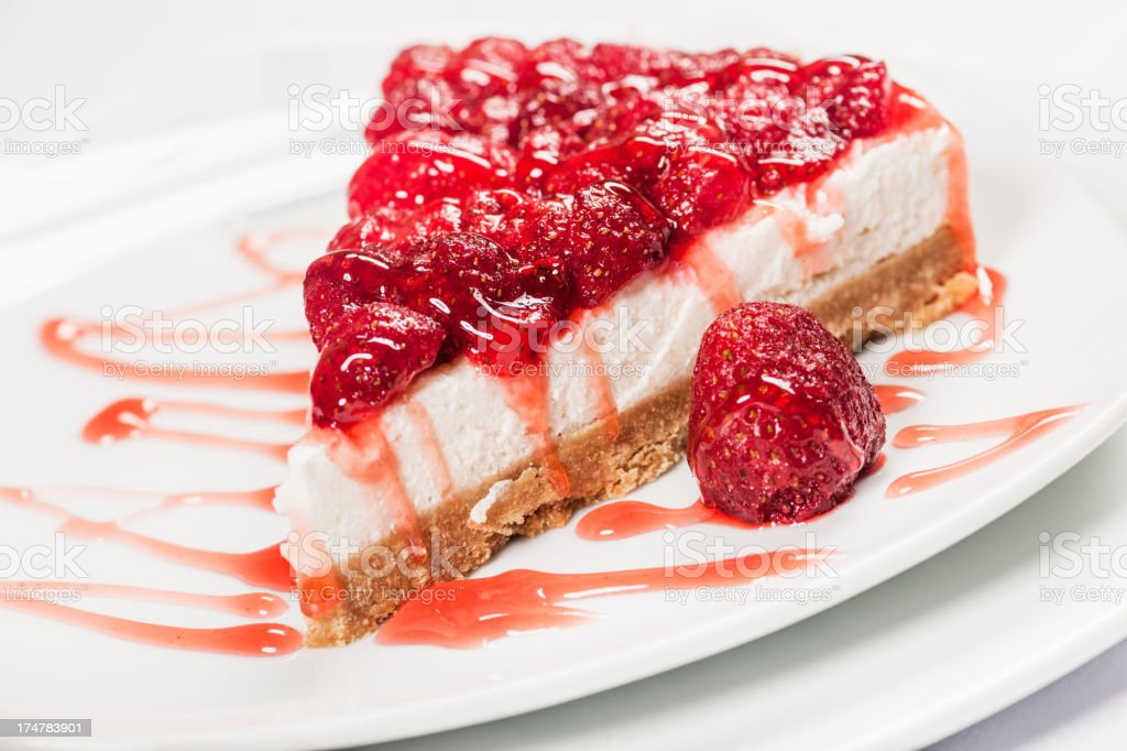 Cheescake with strawberries royalty-free stock photo