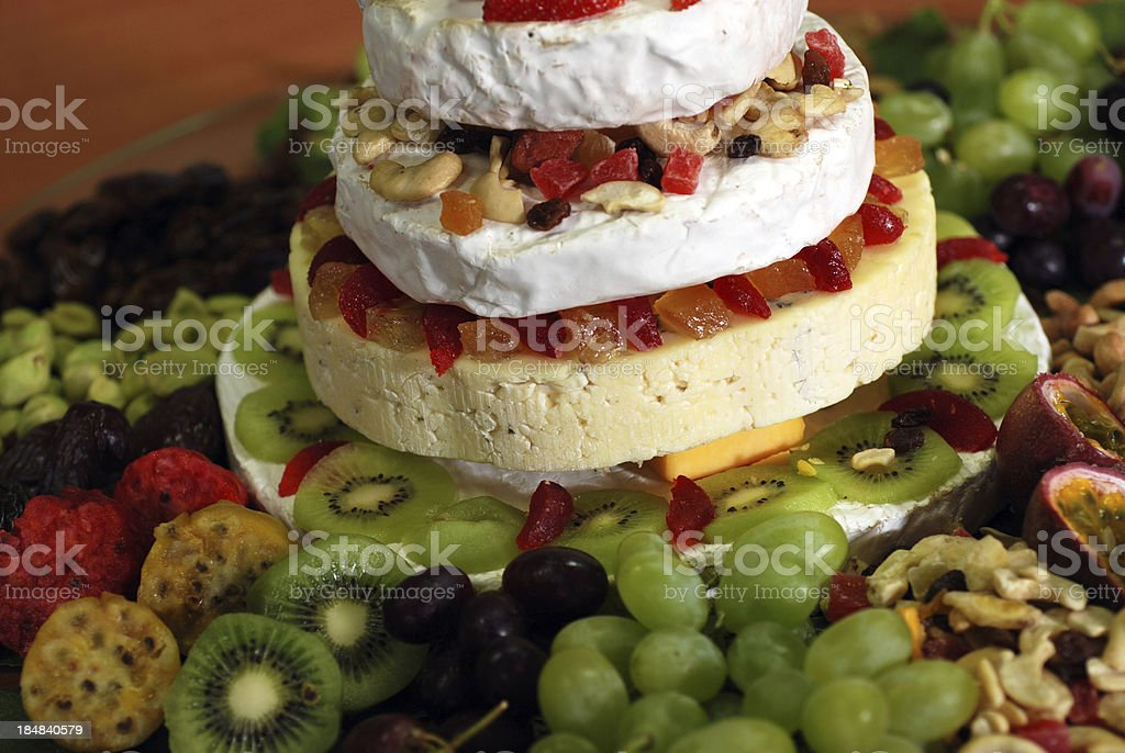 Cheese & Fruit Tower royalty-free stock photo