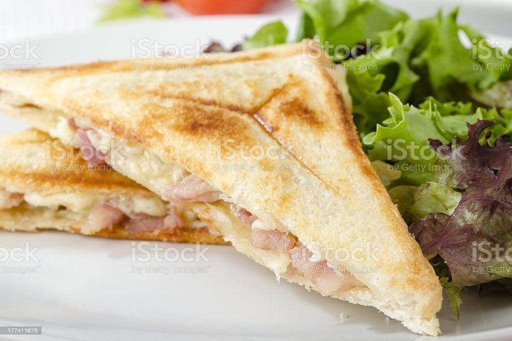 Cheese and Bacon Toastie royalty-free stock photo