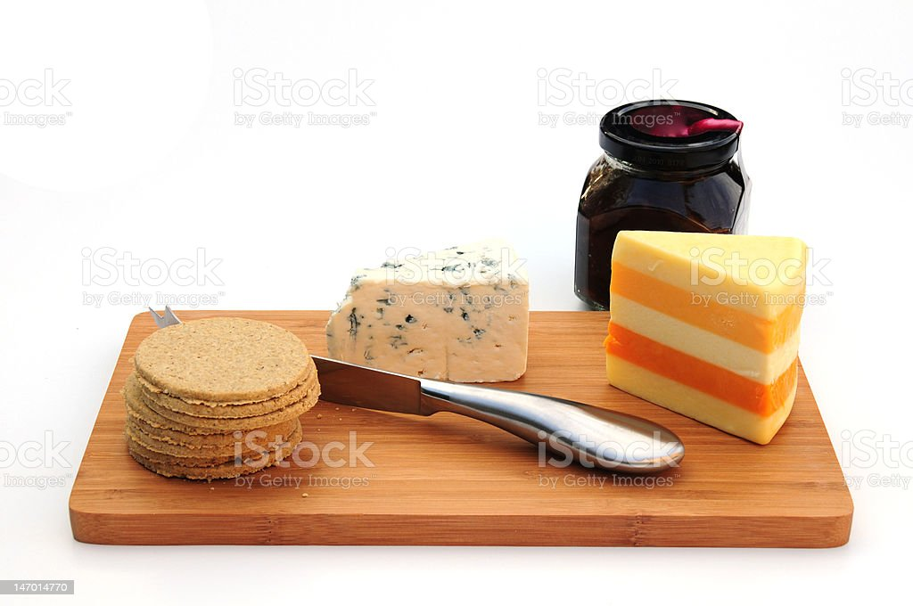 cheese and biscuits royalty-free stock photo
