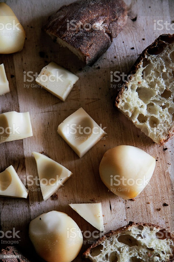 Cheese and Bread stock photo