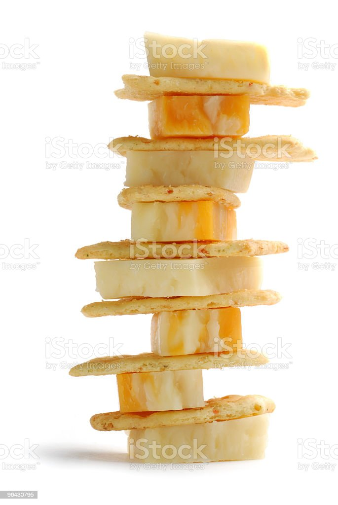 Cheese and crackers royalty-free stock photo