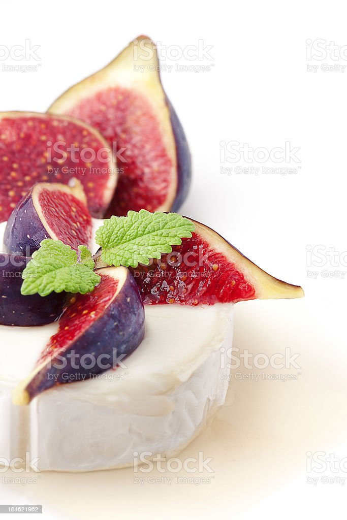 Cheese and figs dish royalty-free stock photo