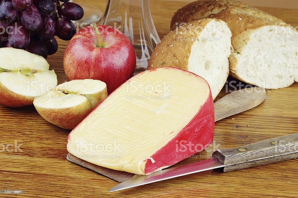 Cheese and Fruit stock photo