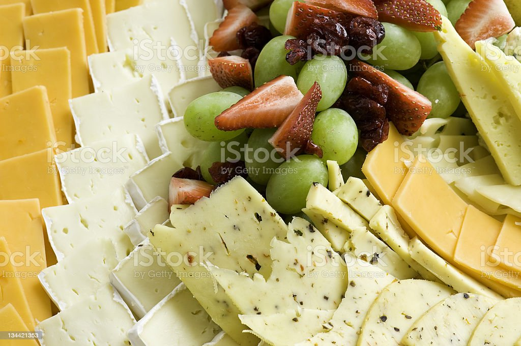 Cheese and Fruit Tray royalty-free stock photo