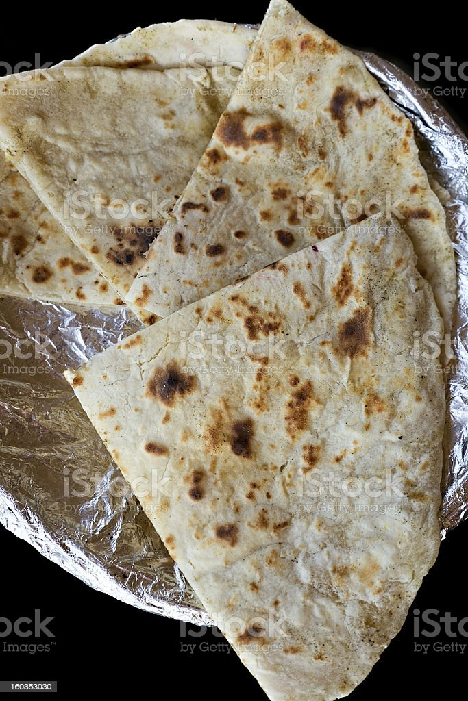 cheese and Garlic Naan Indian Flatbread royalty-free stock photo