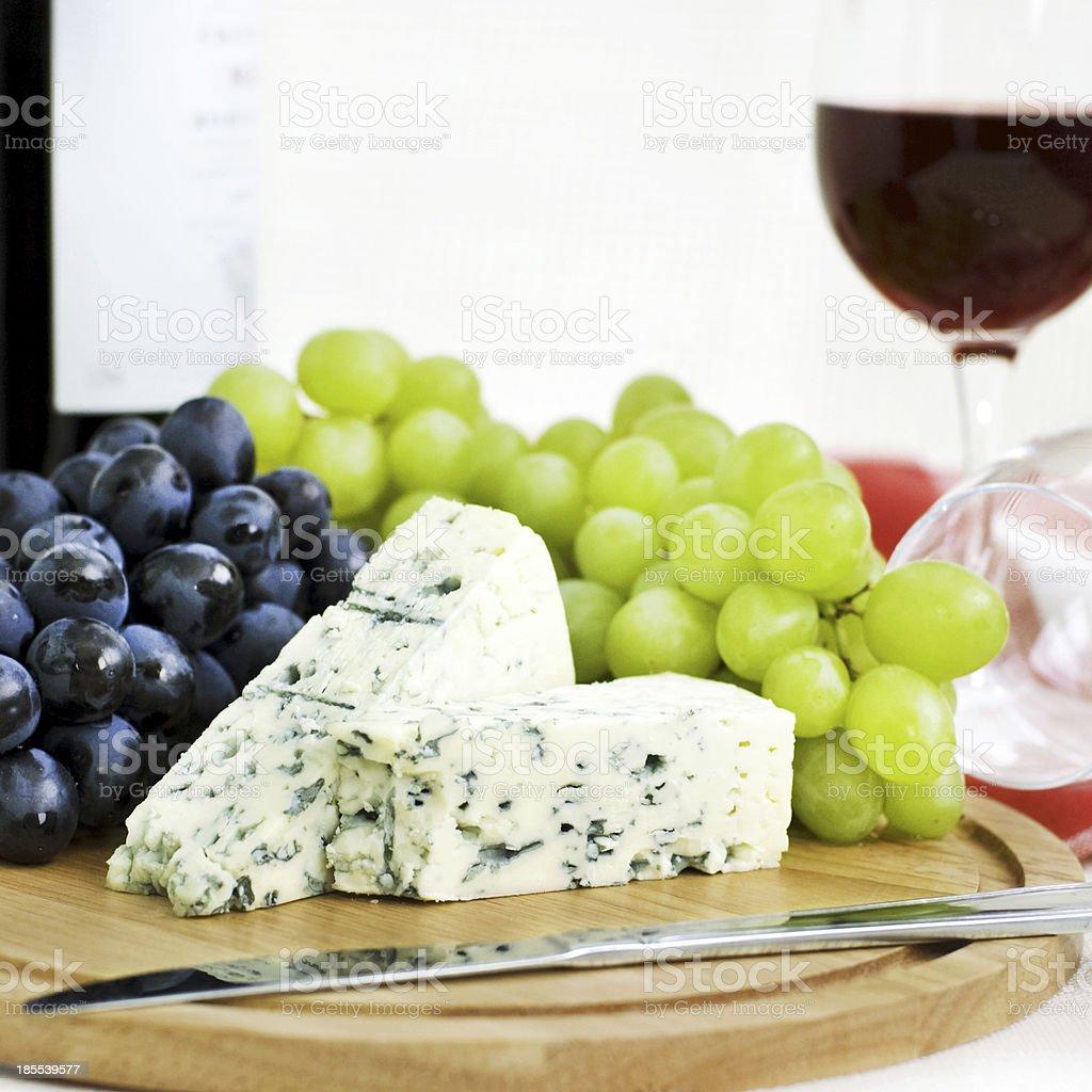 Fromage et raisins photo libre de droits