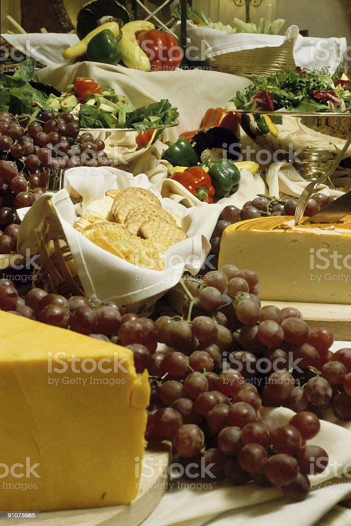 cheese and grapes royalty-free stock photo
