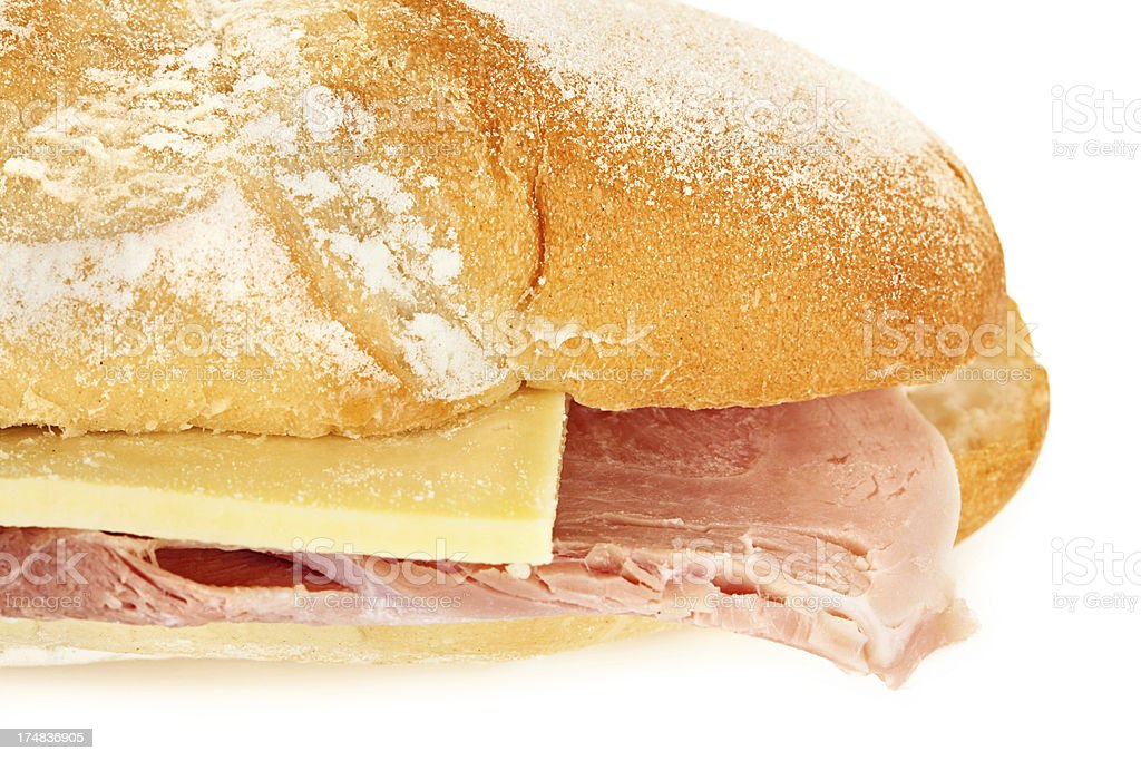 Cheese and Ham Bagette royalty-free stock photo