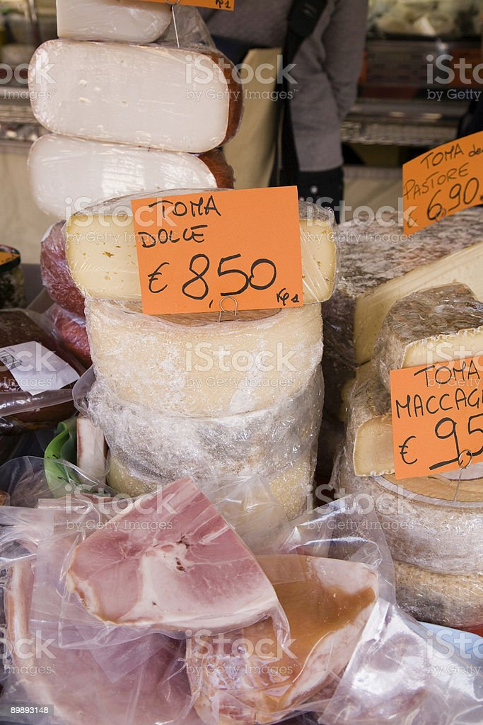 Cheese and Ham royalty-free stock photo