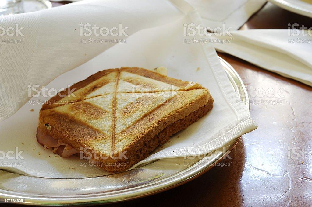 Cheese and Ham Toastie royalty-free stock photo