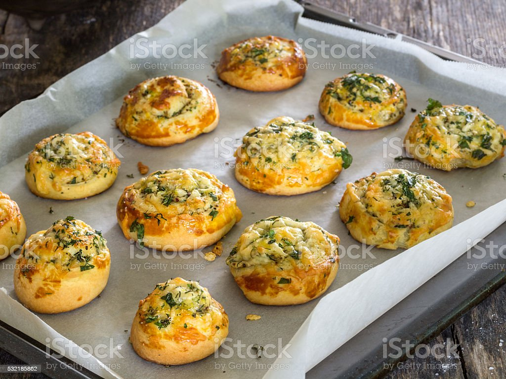 Cheese and herb bread royalty-free stock photo