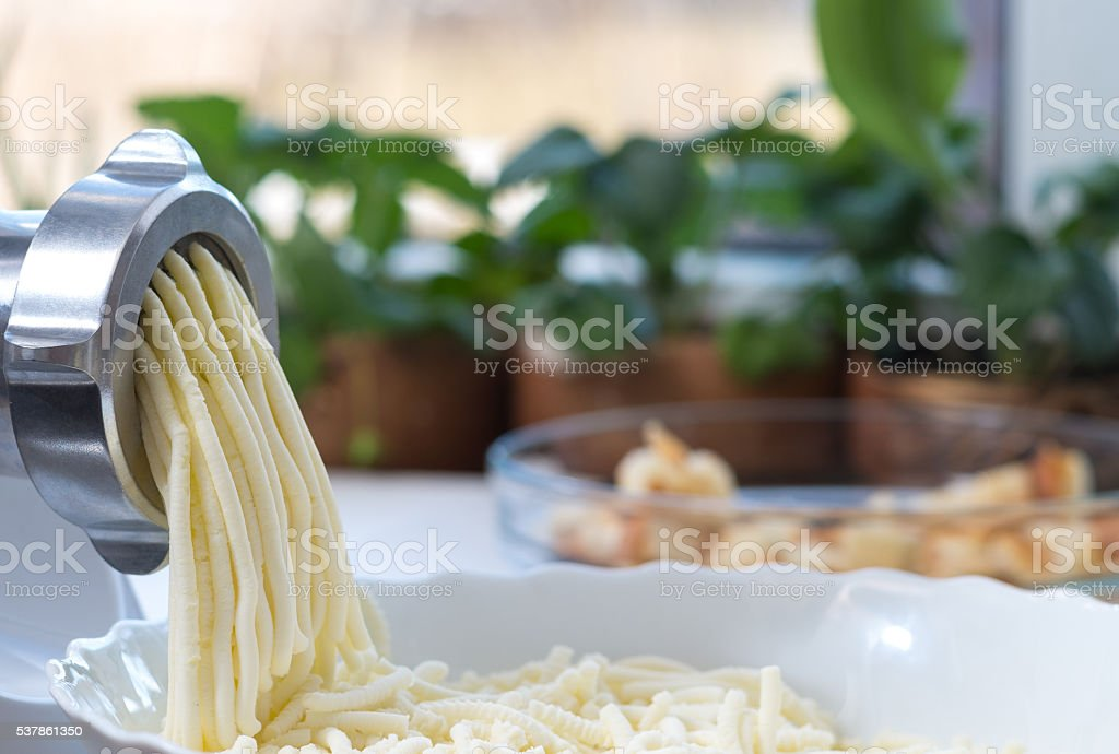 Cheese and meat grinder stock photo