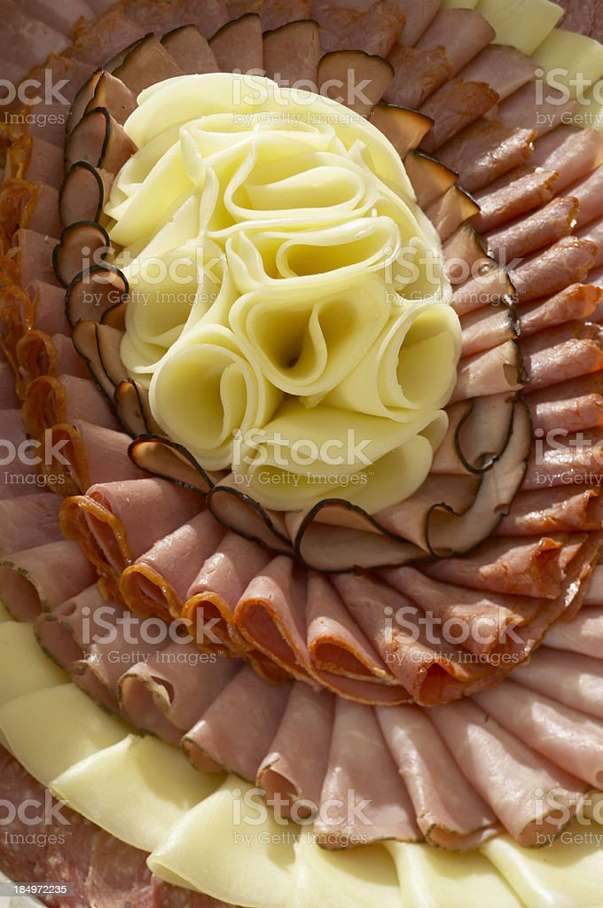 Cheese and Meat variety stock photo
